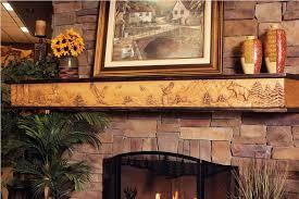 rustic fireplace mantel decor