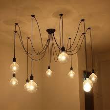 fuloon vintage edison multiple ajule diy ceiling spider lamp chandelier light mini bulbs watt filament style candelabra bulb wattage the original