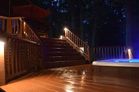 outdoor stairs lighting. louisville hot tub stair lighting outdoor stairs