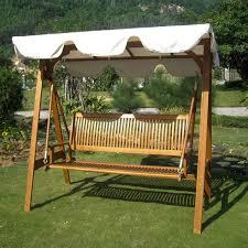 International Caravan Royal Tahiti 3-seater Garden Swing with Canopy