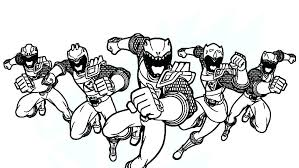 Power Rangers Coloring Pages Coloring Newest Games