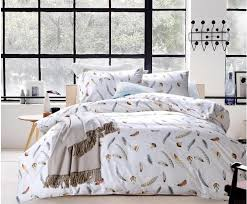 luxury 100 egyptian cotton bedding set feather plume brown sheets king queen size quilt duvet cover bed in a bag bedspreads 60 bedlinens erfly bedding