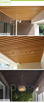 Pvc Roof Design Rucca 40 25mm Wood And Pvc Composite Ceiling Panel Design Ceiling Tile For Interior Hotel Lobby Library Corridor Decoration Buy Ceiling Tile Pvc