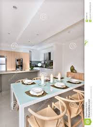 Kitchen Setup Modern Dining Room Setup With Candles Flashing In Front Of The