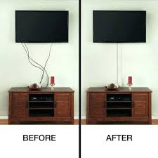 how to hide tv wires behind wall uk wire cover for mounted wonderful commercial electric flat