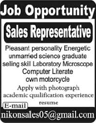 sales representative jobs in pakistan 2013 august latest for selling medical equipment medical sales representative jobs