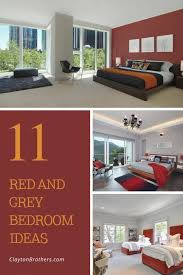 practical red and grey bedroom ideas