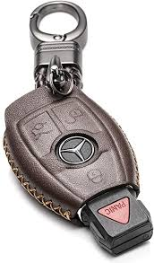 Made of stainless steel, leather or gold. 4 Button Red 2018 2020 Mercedes Benz S Class Vitodeco Genuine Leather Smart Key Fob Case Cover Protector With Leather Key Chain For 2017 2020 Mercedes Benz E Class Interior Accessories Keychains