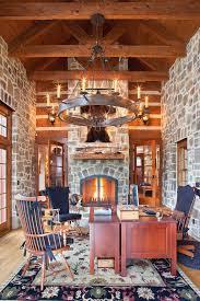 traditional home office. Traditional Home Office Of Country Retreat Is All About Stone