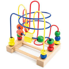 Wooden Bead Game Amazon Developmental Wooden Bead Maze Game by Imagination 3