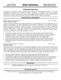 Cosy Mis Analyst Resume Templates In Systems Analyst Resume Samples