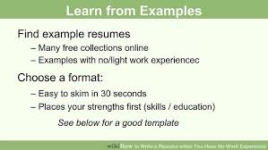 How To Write A Resume When You Have No Work Experience 40 Steps New How To Make A Resume With No Work Experience