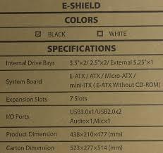 <b>Корпус Deepcool E-SHIELD Black</b> без БП с окном — купить в ...