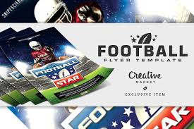 Football Flyer Template With 2 Sizes ~ Flyer Templates ~ Creative Market