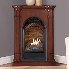 duluth forge dual fuel vent free fireplace with mantel 15 000 btu t stat