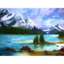 rocky mountains painting original landscapes oil painting