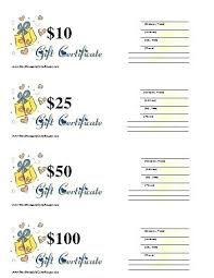 Printable Christmas Gift Certificates Templates Free Unique Printable Blank Gift Certificate Template Blank Printable Gift