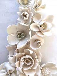 art 3d on 3d ceramic flower wall art with spring bouquet pinteres