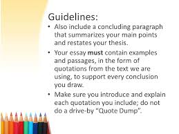 formal essay writing guidelines the crucible the crucible essay 6 guidelines