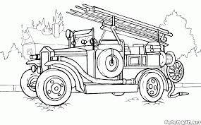Disegni Da Colorare Camion Dei Pompieri 1904 Anno