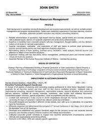 A Resume Template For A Franchise Training And Support