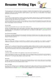 Resume Writing Tips Gorgeous Tips For Resume Writing Cover Letter