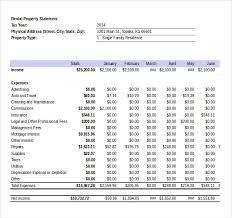 Expense And Income Template Expense Statement Barca Fontanacountryinn Com