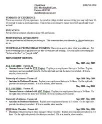 Resume Examples Resume Template College Student No Work Resumes