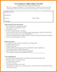 Sample New Hire Checklist Template Custom Employee Checklist Format Template New Vancouvereastco
