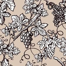 Vine Pattern New Grape Vine Vintage Pattern Background Vector Seamless Sketch