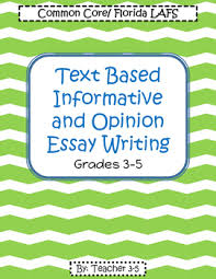 3 5 Essay Format Fsa Writing Common Core Writing Packet Grades 3 5