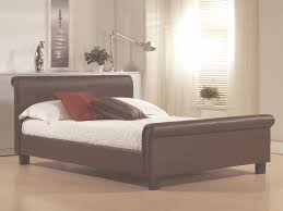 aurora 6ft super king brown leather bed