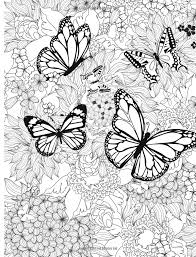 Number 1 Stress Relief Coloring Butterfly Coloring Page