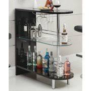 Furniture of America Ponne Industrial Chalkboard Walnut Mobile Server/Mini  Bar - Walmart.com