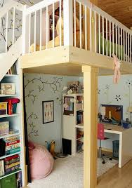 Kids Loft Bed With Study Desk And Play Area Underneath
