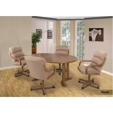 casual dining chairs with casters: douglas douglas casual living paula margo peggy caster dining set