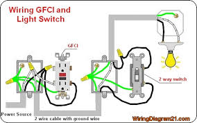 gfci outlet wiring diagram house electrical wiring diagram Wiring Diagram For Gfi Outlet gfci outlet electrical wiring diagram with light 2 way switch wiring diagram for gfci outlet