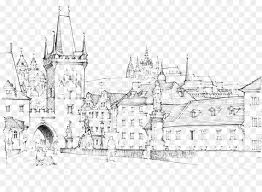 charles bridge malxe1 strana drawing sketch handpainted medieval castle architectural drawings of bridges11 bridges