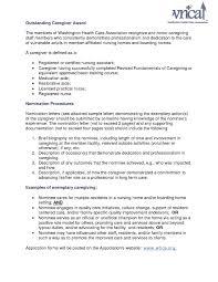 Job Objective On Resume Caregiver Resume Objective TGAM COVER LETTER 89