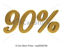 Image result for 90 percent