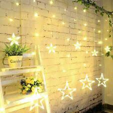 138 Led Stern Lichterkette Lichtvorhang Weihnachten