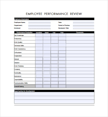 Annual Review Forms For Employees Employee Review Forms 5 Download Free Documents In Pdf