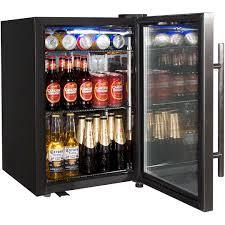dellware tropical triple glazed glass door bar fridge model dw sc66 open