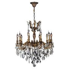 worldwide lighting versailles 10 light antique bronze chandelier with clear crystal