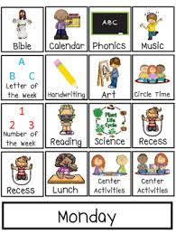 Preschool Interactive Daily Schedule Chart Preschool Prek Homeschool