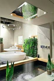 A shower that quite literally comes from the ceiling.