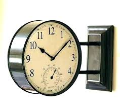 two sided wall clock double clocks side for vintage on sid rustic large wall clock