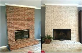 updated brick fireplace redo