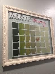 Framed Dry Erase Board Fancy Dry Erase Calendar Diy Home Decor Pinsandpetals