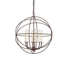 jvi designs 22 in 6 light rust globe chandelier
